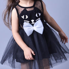 Load image into Gallery viewer, Pink/Black Super Cute Kitty Children's Princess Dress SP153041 - SpreePicky  - 4