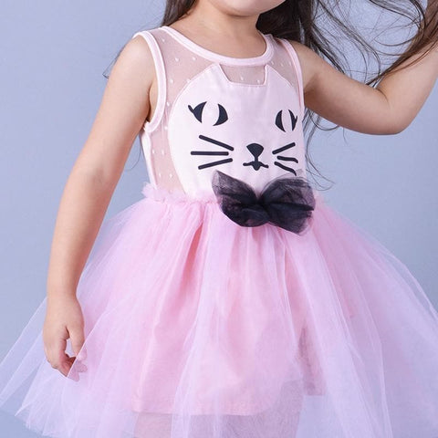Pink/Black Super Cute Kitty Children's Princess Dress SP153041 - SpreePicky  - 5