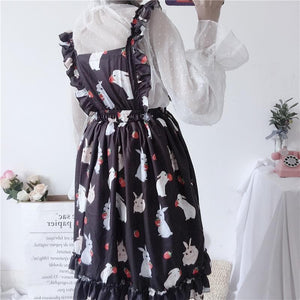 Pink/Black Sweet Rabbit Suspender Dress SP1812352