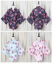 Load image into Gallery viewer, Pink/Blue/Black Harajuku Goldfish Kimono Haori/Bathrobe SP1811835
