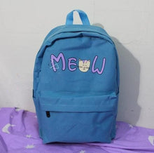 Load image into Gallery viewer, Pink/Blue/Mint Cutie Neko Cat Meow Backpack SP153146 - SpreePicky  - 6