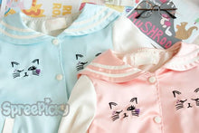Load image into Gallery viewer, Pink/Blue Kawaii Cat Jacket Coat SP153090