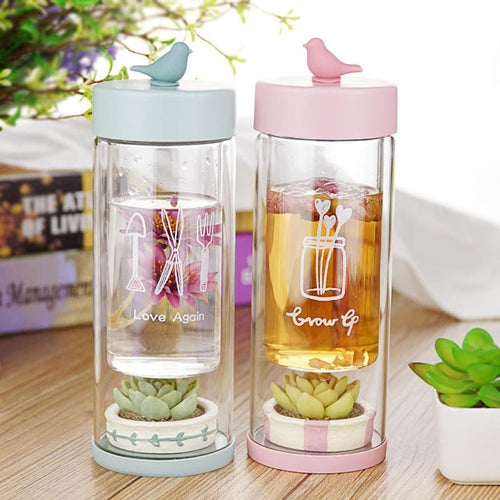 Pink/Blue Pocket Garden Water Bottle SP179974