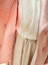 Load image into Gallery viewer, Pink/Blue Sweet Petal Shape Collar Woolen Coat SP154674 - SpreePicky  - 7