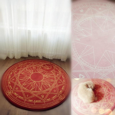 Pink/Dark Red Card Captor Sakura Carpet SP153429