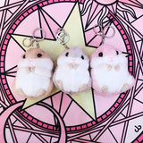 Pink/Grey/Brown Kawaii Plush Hamster Keychain SP1711156