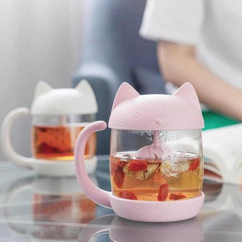 PinkGrey Kawaii Kitty Fish Mug SP1710163