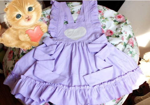 Pink/Purple Cutie Maid Suspender Dress SP165164