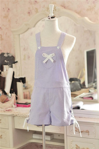 Pink/Blue/Purple Kawaii Girl Suspender Overall SP167021