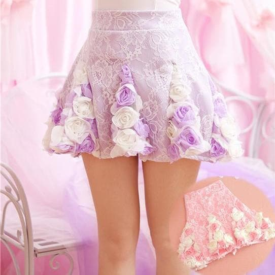Pink/Purple Sweet Rose Skirt SP166794