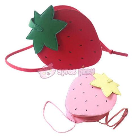 Pink/Red Kawaii Strawberry Shoulder Bag SP152297 - SpreePicky  - 4