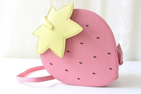 Pink/Red Kawaii Strawberry Shoulder Bag SP152297 - SpreePicky  - 8