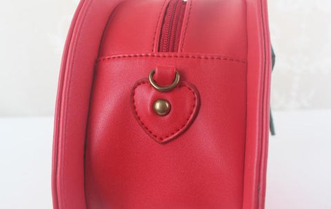 Pink/Red Kawaii Strawberry Shoulder Bag SP152297 - SpreePicky  - 11