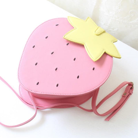 Pink/Red Kawaii Strawberry Shoulder Bag SP152297 - SpreePicky  - 9
