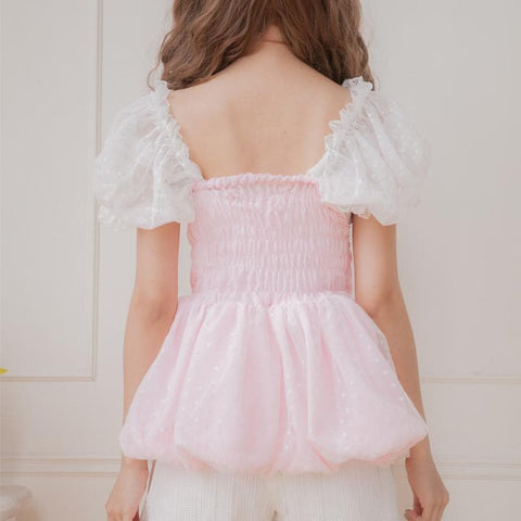 Pink/White Pastel Bubble Princess Top SP152180 - SpreePicky  - 7