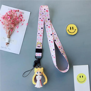 Pink/White Sailor Moon Phone Pendant SP1812073