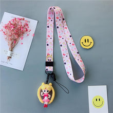 Load image into Gallery viewer, Pink/White Sailor Moon Phone Pendant SP1812073