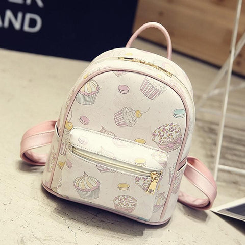 Pink/White Sweet Cupcake Backpack SP1710195