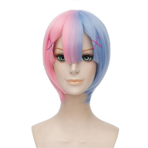 Pink Blue Re: Life In A Different World From Zero- Twin Maid Cosplay Wig SP168165