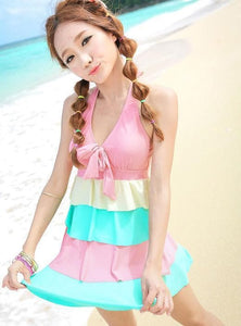 Pink Fluffy Swimming Suit SP152486 - SpreePicky  - 2