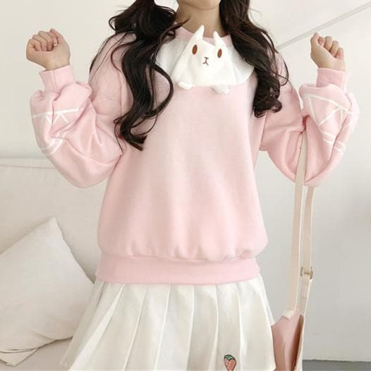 Pink Kawaii Cartoon Sweatershirt SP1811729