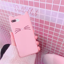 Load image into Gallery viewer, Pink Kawaii Cat Samsung Phone Case SP1811915