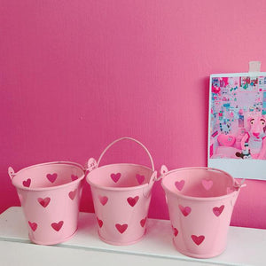 Pink Kawaii Heart Hollow Out Decorative Buckets SP1710415