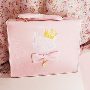 Pink Kitty Cat Queen 3-Ways Using Bag SP164986