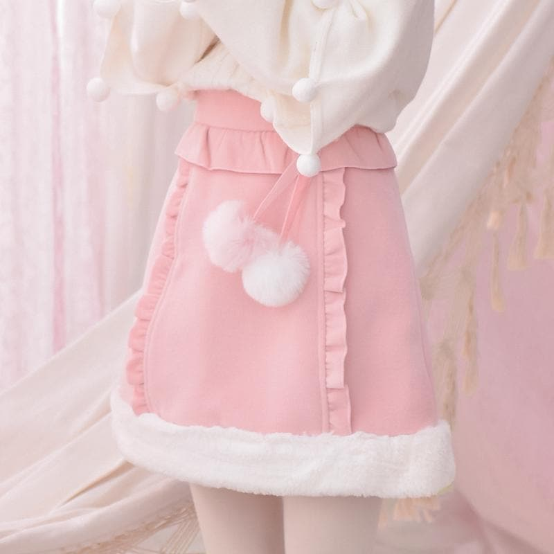 Pink Pastel Plush Skirt SP1811725