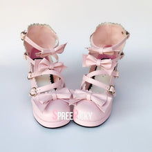 Load image into Gallery viewer, Pink Ribbon Sweet Lolita Shoes SP1710380