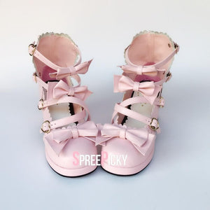 Pink Ribbon Sweet Lolita Shoes SP1710380