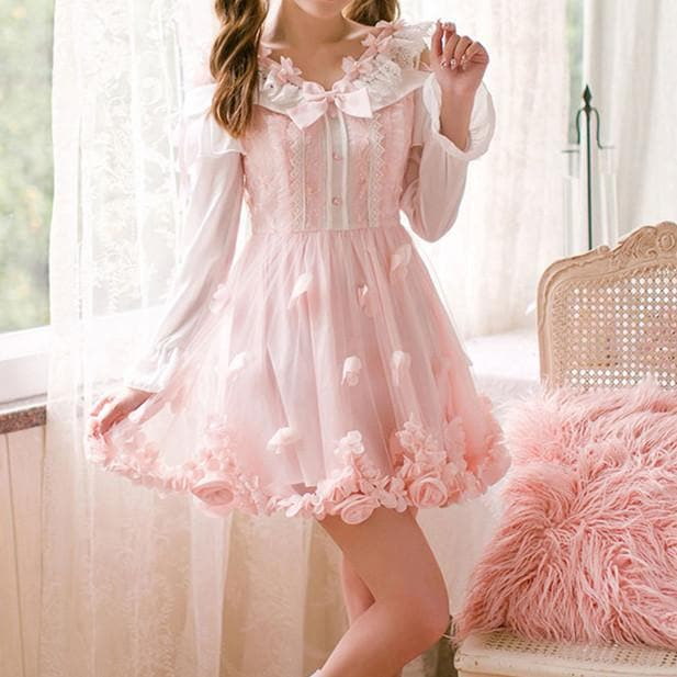 Pink Rosy Ruffle Fairy Dress SP1710545