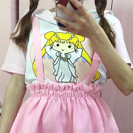 Pink Sailor Moon Kawaii Sailor Collar Shirt SP166795