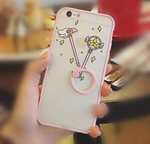 Pink Sailor Moon Ring Holder Phone Case SP166424