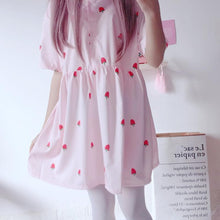 Load image into Gallery viewer, Pink Sweet Strawberry Dress SP1812378