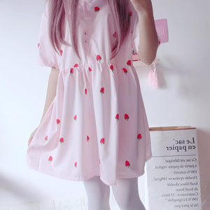 Pink Sweet Strawberry Dress SP1812378