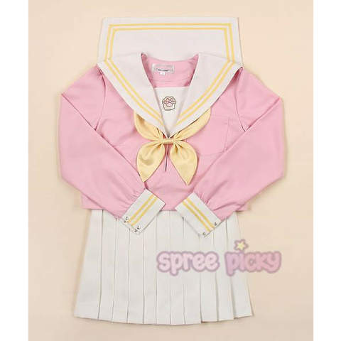 Pinky Cat Paw Uniform Seifuku Top/Skirt/Bow SP165042