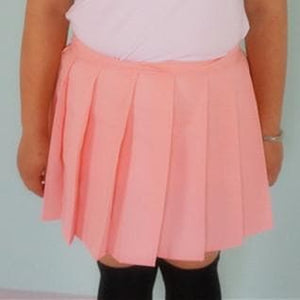 Plus Size Pastel Cute  Baby Pink Sailor Seifuku School Uniform Pleated Skirt Only SP140888 - SpreePicky  - 3