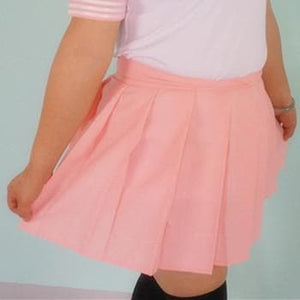 Plus Size Pastel Cute  Baby Pink Sailor Seifuku School Uniform Pleated Skirt Only SP140888 - SpreePicky  - 2