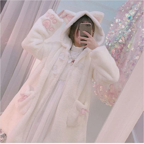 Plush Lolita Kitty Coat SP1711483