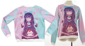 [Princess-misery Design] Sweet Tooth Stocking Fleece Jumper SP141605 - SpreePicky  - 2