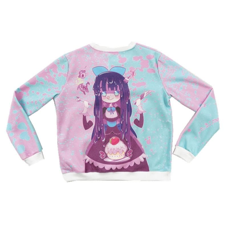 [Princess-misery Design] Sweet Tooth Stocking Fleece Jumper SP141605 - SpreePicky  - 1