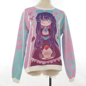 [Princess-misery Design] Sweet Tooth Stocking Fleece Jumper SP141605 - SpreePicky  - 3