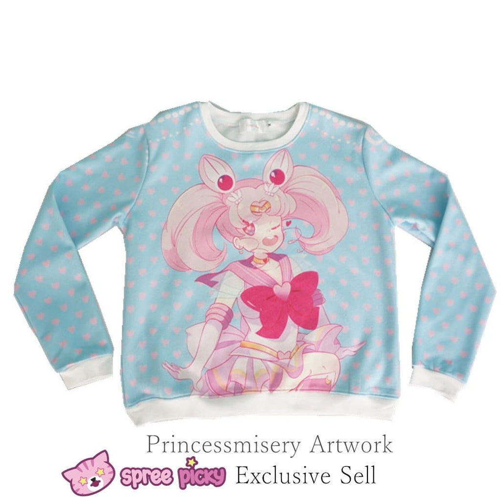 [Princess-misery Design] Sailor Moon Sailor Chibi Moon Fleece Jumper SP151670 - SpreePicky  - 1