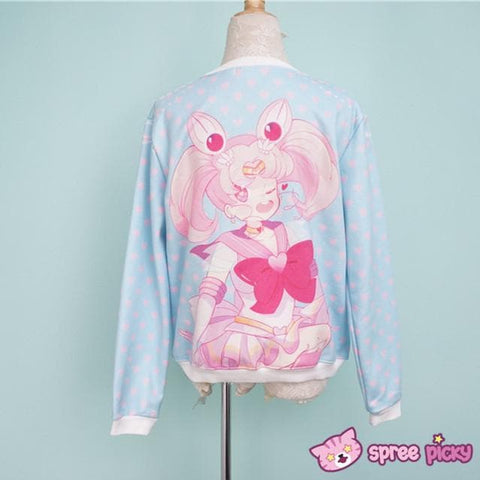 [Princess-misery Design] Sailor Moon Sailor Chibi Moon Fleece Jumper SP151670 - SpreePicky  - 4