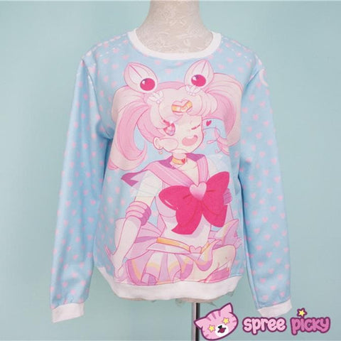 [Princess-misery Design] Sailor Moon Sailor Chibi Moon Fleece Jumper SP151670 - SpreePicky  - 2