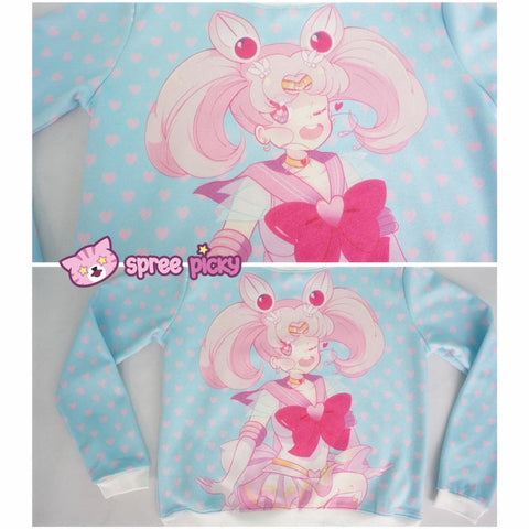 [Princess-misery Design] Sailor Moon Sailor Chibi Moon Fleece Jumper SP151670 - SpreePicky  - 6