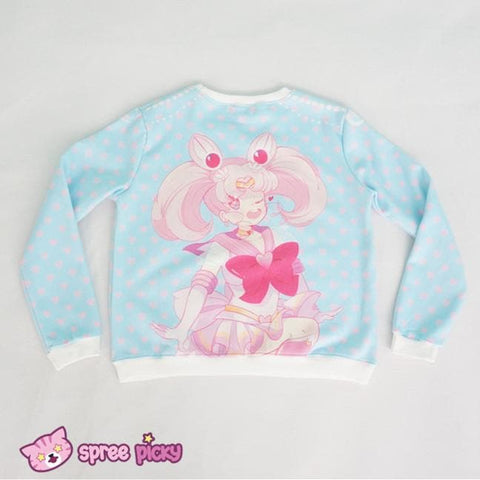[Princess-misery Design] Sailor Moon Sailor Chibi Moon Fleece Jumper SP151670 - SpreePicky  - 5