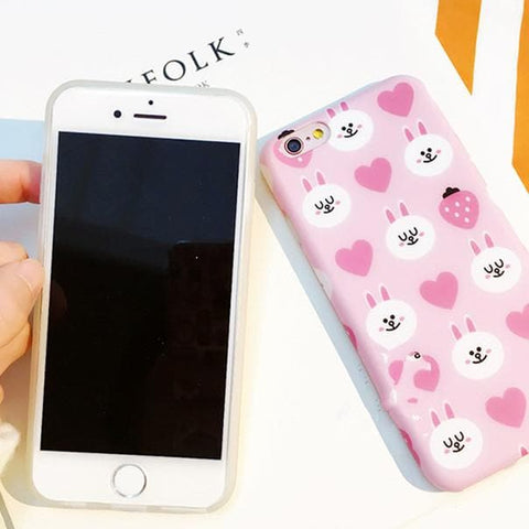 Pudding Bear/Strawberry Rabbit Printing Phone Case SP166171