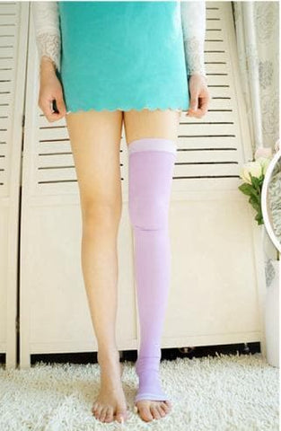 Purple/Black Compression Step on the Foot Socks SP164928 - SpreePicky  - 3